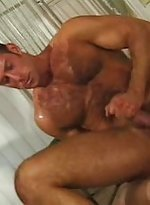Bulk muscle gay sitting down sitting up on hard co