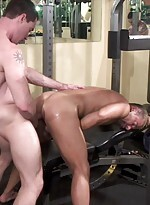 Enjoy these hot studs letting loose in the gym. ti